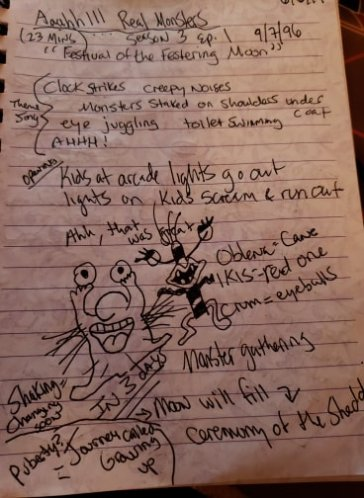 Aunt Jessi's notes and doodles